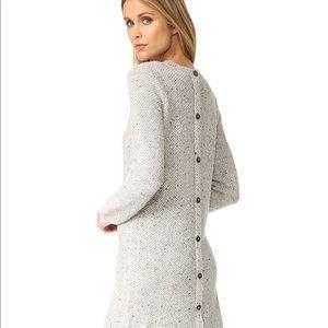 Madewell button back sweater dress (XXS)